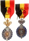 Belgium Medal 1970 - Labour Decoration Belgian Labour Decoration. First Class. Complete with rosette. Silvered bronze. Lot of 2 Medal