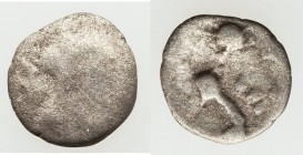 BRITAIN. Iceni. Ecen (ca. AD 10-45). AR half unit (10mm, 0.33 gm). VG. Two crescents back-to-back, separated by superior and inferior pellets; all wit...