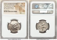 DANUBE REGION. Balkan Tribes. Imitating Alexander III the Great. Ca. 3rd-2nd centuries BC. AR tetradrachm (26mm, 16.93 gm, 11h). NGC VF 5/5 - 4/5. Cel...