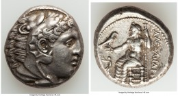 MACEDONIAN KINGDOM. Alexander III the Great (336-323 BC). AR tetradrachm (24mm, 17.19 gm, 1h). Choice VF. Lifetime issue of Aegeae, ca. 336-323 BC. He...