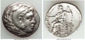 MACEDONIAN KINGDOM. Alexander III the Great (336-323 BC). AR tetradrachm (29mm, 16.71 gm, 12h). VF. Posthumous issue of Sicyon, ca. 225-215 BC. Head o...
