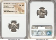 MACEDONIAN KINGDOM. Alexander III the Great (336-323 BC). AR drachm (17mm, 9h). NGC Choice XF. Early posthumous issue of Lampsacus, ca. 323-317 BC. He...