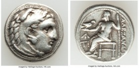 MACEDONIAN KINGDOM. Alexander III the Great (336-323 BC). AR drachm (16mm, 4.20 gm, 12h). Choice VF. Early posthumous issue of Sardes, ca. 323-319 BC....