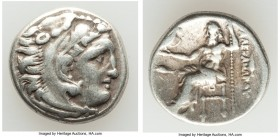 "MACEDONIAN KINGDOM. Alexander III the Great (336-323 BC). AR drachm (16mm, 4.29 gm, 11h). Choice VF. Early posthumous issue of ""Colophon,"" ca. 323-319..."