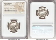 ATTICA. Athens. Ca. 440-404 BC. AR tetradrachm (23mm, 17.19 gm, 7h). NGC Choice XF 5/5 - 5/5, Full Crest. Mid-mass coinage issue. Head of Athena right...