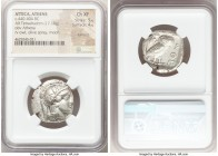 ATTICA. Athens. Ca. 440-404 BC. AR tetradrachm (24mm, 17.18 gm, 6h). NGC Choice XF 5/5 - 4/5, Full Crest. Mid-mass coinage issue. Head of Athena right...