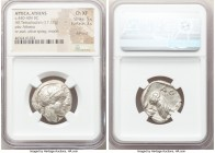 ATTICA. Athens. Ca. 440-404 BC. AR tetradrachm (24mm, 17.17 gm, 4h). NGC Choice XF 5/5 - 3/5, Full Crest. Mid-mass coinage issue. Head of Athena right...