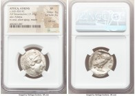 ATTICA. Athens. Ca. 440-404 BC. AR tetradrachm (24mm, 17.17 gm, 1h). NGC XF 4/5 - 4/5, Full Crest. Mid-mass coinage issue. Head of Athena right, weari...