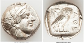 ATTICA. Athens. Ca. 440-404 BC. AR tetradrachm (26mm, 17.17 gm, 1h). Choice XF. Mid-mass coinage issue. Head of Athena right, wearing crested Attic he...