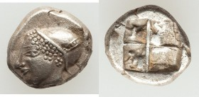 IONIA. Phocaea. Ca. late 6th-early 5th centuries BC. AR diobol or hemidrachm (10mm, 1.33 gm). XF. Archaic styled female head left, wearing helmet or c...
