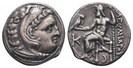 Greek, Kings of Macedon, Alexander III the Great 336-232 BC, Ar Drachm.  Condition: Very Fine  Weight: 4.50 gr Diameter: 18 mm