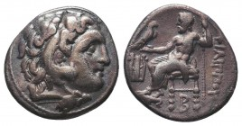Greek, Kings of Macedon, Alexander III the Great 336-232 BC, Ar Drachm.  Condition: Very Fine  Weight: 4.20 gr Diameter: 17 mm