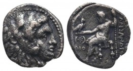 Greek, Kings of Macedon, Alexander III the Great 336-232 BC, Ar Drachm.  Condition: Very Fine  Weight: 3.90 gr Diameter: 17 mm