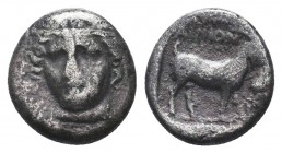 Thrace, Ainos AR Didrachm. Circa 375 BC.  Condition: Very Fine  Weight: 2.40 gr Diameter: 13 mm