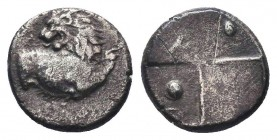 Thrace, Cherronesos. Ca. 400-350 B.C. AR fourrée hemidrachm  Condition: Very Fine  Weight: 2.10 gr Diameter: 12 mm