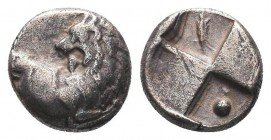 Thrace, Cherronesos. Ca. 400-350 B.C. AR fourrée hemidrachm  Condition: Very Fine  Weight: 2.30 gr Diameter: 12 mm