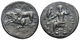 Cilicia, Tarsos. Mazaios. Silver Stater.Satrap of Cilicia, 361/0-334 BC. Baaltars seated left, holding eagle, grain ear, bunch of grapes and scepter; ...