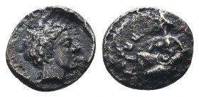 CILICIA, Tarsos. Satrap of Cilicia, 361/0-334 BC. AR Obol  Condition: Very Fine  Weight: 0.60 gr Diameter: 8 mm