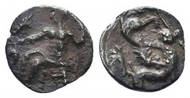 CILICIA, Tarsos. Mazaios. Satrap of Cilicia, 361/0-334 BC. AR Obol  Condition: Very Fine  Weight: 0.60 gr Diameter: 9 mm