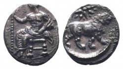 CILICIA, Myriandros. Mazaios. Satrap of Cilicia, 361/0-334 BC. AR Obol  Condition: Very Fine  Weight: 0.70 gr Diameter: 10 mm