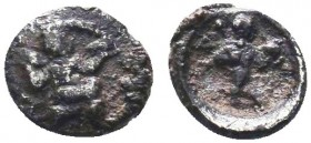Uncertain. Circa 425-385 BC. AR Obol   Condition: Very Fine  Weight: 0.10 gr Diameter: 10 mm