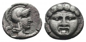 Selge, Pisidia. AR Obol, 3rd Century BC.  Condition: Very Fine  Weight: 1.00 gr Diameter: 10 mm