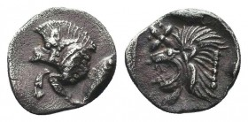 MYSIA. Kyzikos. Circa 525-475 BC. Obol   Condition: Very Fine  Weight: 0.40 gr Diameter: 8 mm