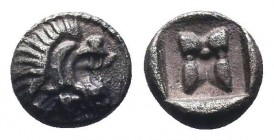 Cilicia or Caria. Uncertain Mint. 5th century BC. Hemiobol, RARE!  Condition: Very Fine  Weight: 0.30 gr Diameter: 6 mm