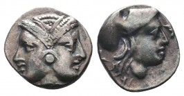 MYSIA, Lampsakos. Circa 500-450 BC. AR Diobol  Condition: Very Fine  Weight: 1.20 gr Diameter: 12 mm