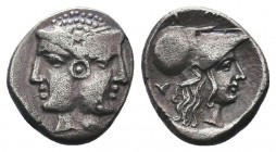 MYSIA, Lampsakos. Circa 500-450 BC. AR Diobol  Condition: Very Fine  Weight: 1.10 gr Diameter: 12 mm
