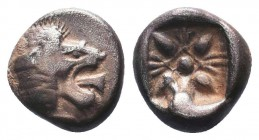 Miletos, Ionia. AR Obol, c. 525-475 BC.  Condition: Very Fine  Weight: 1.20 gr Diameter: 9 mm