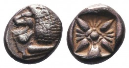 Miletos, Ionia. AR Obol, c. 525-475 BC.  Condition: Very Fine  Weight: 1.10 gr Diameter: 9 mm