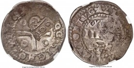 Alfonso VI Counterstamped 100 Reis ND (1663) VF20 NGC, KM27. With Type IV countermark on Portugal 80 Reis of João IV. Ex. Piracicaloa Collection  HID0...