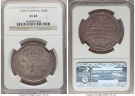 "Jose I 600 Reis 1756/5-R XF40 NGC, Rio de Janeiro mint, KM187. A clearly overdated example of this ""J"" coinage issue displaying residual luster over g..."