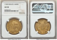 Maria I & Pedro III gold 6400 Reis 1782-R AU58 NGC, Rio de Janeiro mint, KM199.2, LMB-487. Pleasingly sharp and marked by scintillating brilliance tha...