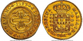 Maria I gold 1000 Reis 1787-(L) UNC Details (Cleaned) NGC, Lisbon mint, KM223, LMB-492. Only 6,000 originally struck.   HID09801242017  © 2020 Heritag...