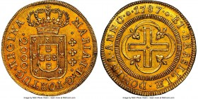 Maria I gold 2000 Reis 1787-(L) MS61 NGC, Lisbon mint, KM224, LMB-493. Mintage: 1,500. Consistently sharp, with a general in-hand appearance that exce...