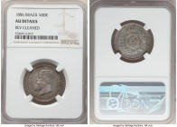 Pedro II 500 Reis 1886 AU Details (Cleaned) NGC, KM480. From a mintage of only 1,803 pieces.  HID09801242017  © 2020 Heritage Auctions | All Rights Re...
