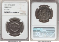 Pedro II 800 Reis 1838 XF Details (Cleaned) NGC, KM456. A rarer year with a paltry mintage of only 497 pieces. Deeply toned.  HID09801242017  © 2020 H...