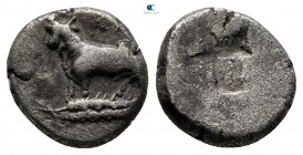 Thrace. Byzantion circa 387-340 BC. Hemidrachm AR