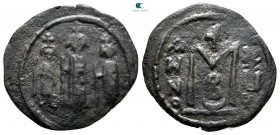 AD 637-643. Time of the Rashidun. uncertain mint in Cyprus. Fals Æ