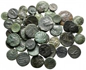 Lot of ca. 50 greek bronze coins / SOLD AS SEEN, NO RETURN! very fine