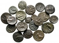 Lot of ca. 20 greek bronze coins / SOLD AS SEEN, NO RETURN! very fine