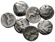 Lot of ca. 7 greek silver drachms / SOLD AS SEEN, NO RETURN!fine