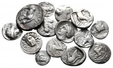 Lot of ca. 14 greek silver coins / SOLD AS SEEN, NO RETURN!nearly very fine