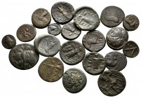 Lot of ca. 20 greek bronze coins / SOLD AS SEEN, NO RETURN!very fine
