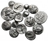 Lot of ca. 15 greek silver coins / SOLD AS SEEN, NO RETURN!very fine