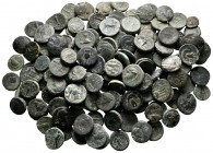 Lot of ca. 150 greek bronze coins / SOLD AS SEEN, NO RETURN! very fine
