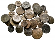 Lot of ca. 33 greek bronze coins / SOLD AS SEEN, NO RETURN!very fine