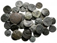 Lot of ca. 43 greek bronze coins / SOLD AS SEEN, NO RETURN!nearly very fine